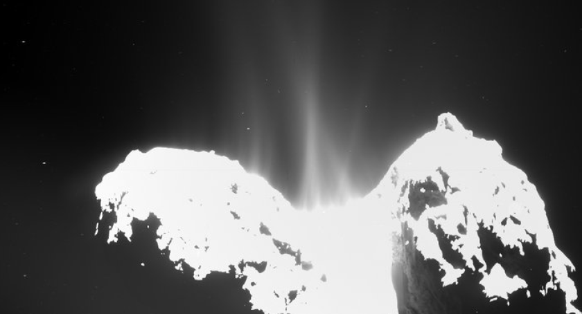 Rosetta's OSIRIS wide-angle camera captured this image on Sept 10 of the stinky comet