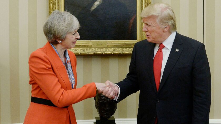 President Trump holds bilateral meeting with UK Prime Minister Teresa May