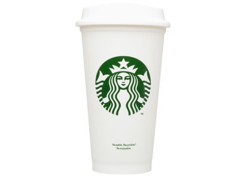 Starbucks started selling $1 reusable plastic cups to cut back on waste.