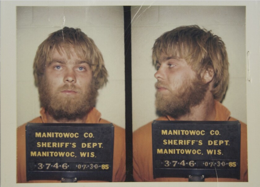 "Booking photo of Steven Avery, subject of Netflix's ""Making a Murderer."""