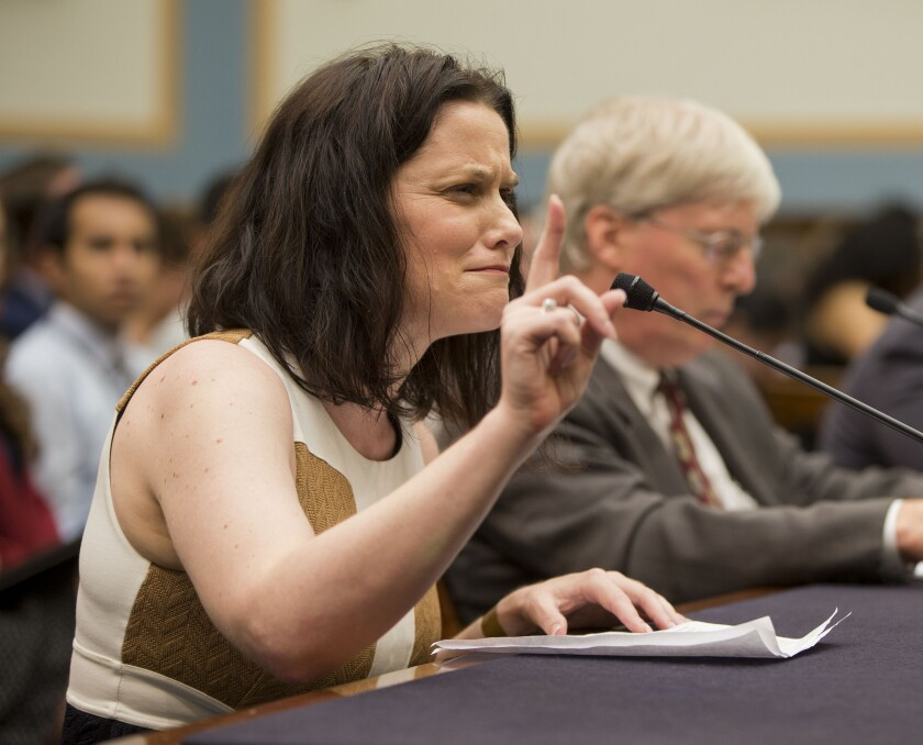 Gianna Jessen, an antiabortion and disability rights activist from Franklin, Tenn., testifies before the House Judiciary Committee hearing examining the practices of Planned Parenthood.