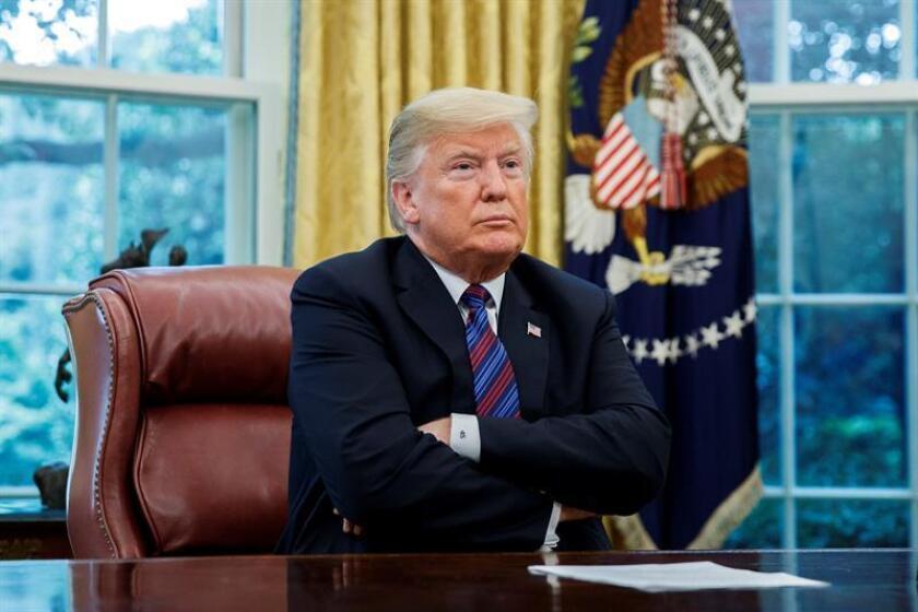 En la imagen, el presidente estadounidense, Donald J. Trump. EFE/Archivo