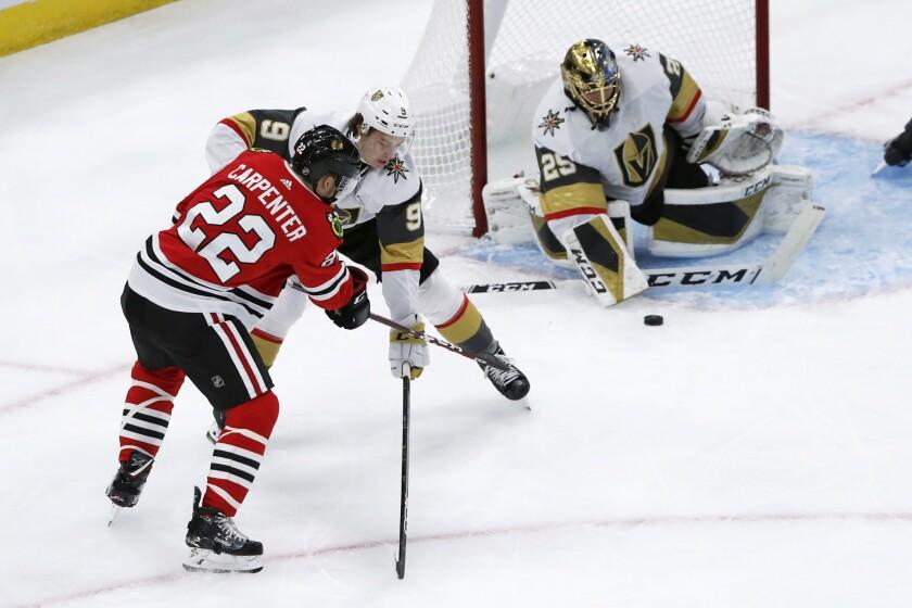 Golden Knights Blackhawks Hockey