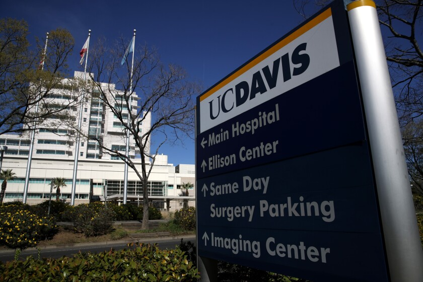 UC Davis Medical Center sign