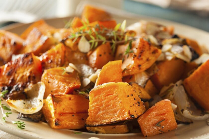 Garnet and jewel yams can be roasted, sautéed and baked. They can team with pecans or persimmons.