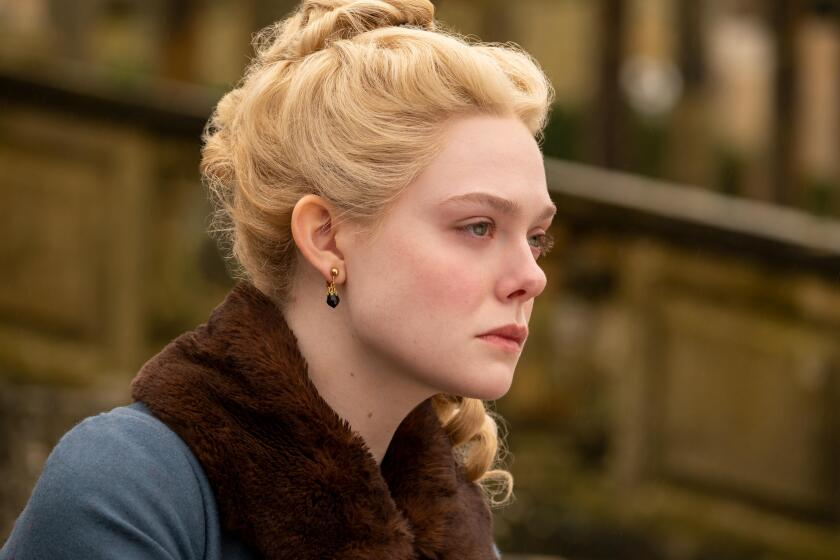 """Not so easy: Catherine (Elle Fanning) finds changing Russia for the better more difficult than anticipated in """"The Great."""""""