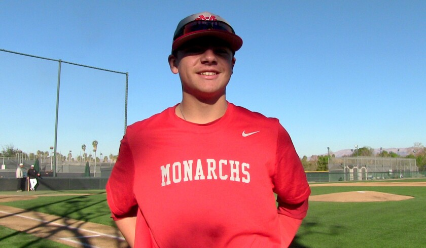 Freshman Nick Pratto of Mater Dei has already committed to USC.