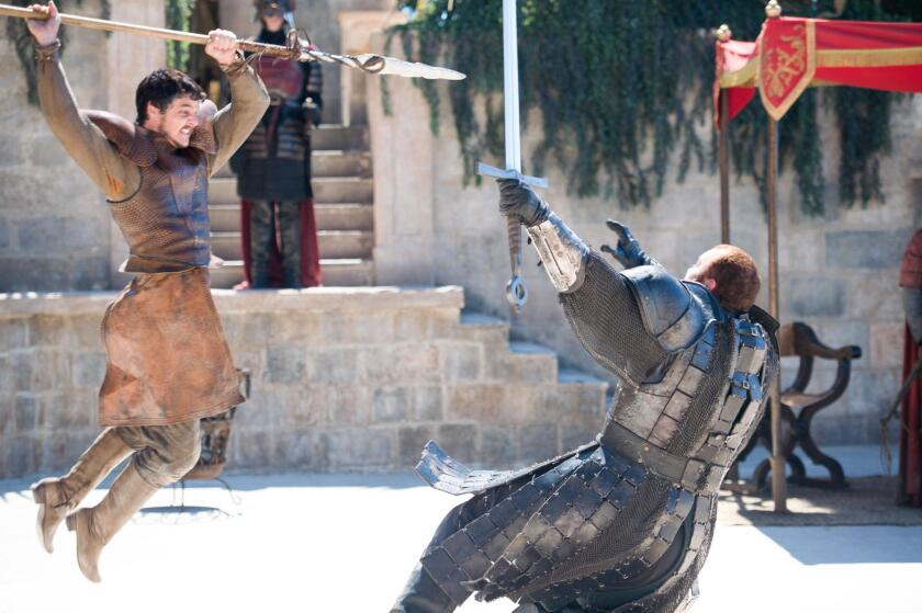 GAME OF THRONES episode 38 (season 4, episode 8): Pedro Pascal, Haf?—r Jœl'us Bjšrnsson. photo: M