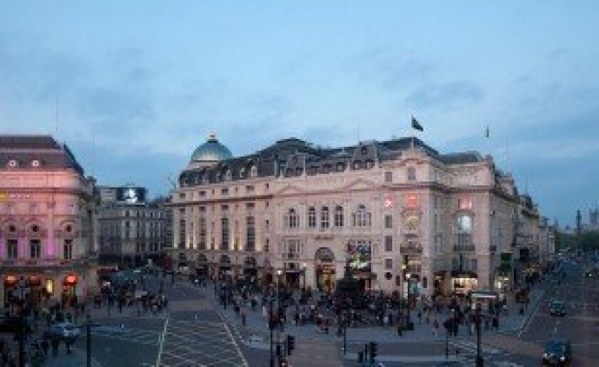 The upscale Cafe Royal hotel, scheduled to re-open in December, occupies a historic building on London's Regent Street near Piccadilly Circus.