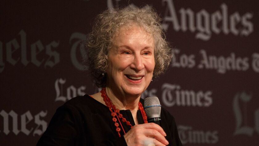 Margaret Atwood at the L.A. Times Festival of Books in April.