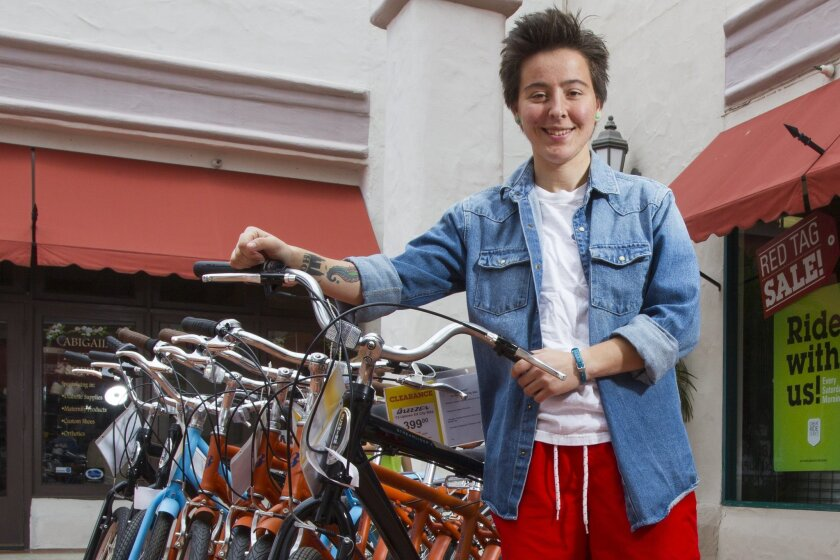 San Marcos native Jesse Newman, 21, plans to ride from Maine to Santa Barbara this summer as part of the Build & Bike program. She will be riding from June to August, stopping along the way to build houses.