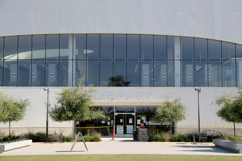 Donald Dungan Library in Costa Mesa on July 21.