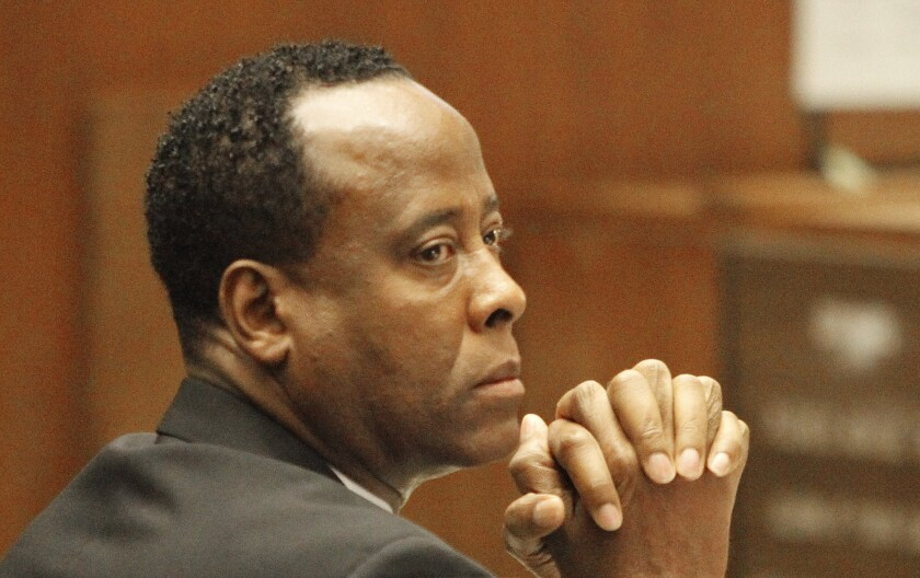 Conrad Murray during his 2011 trial; Michael Jackson's doctor at the time of Jackson's death is reportedly seeking a book deal.