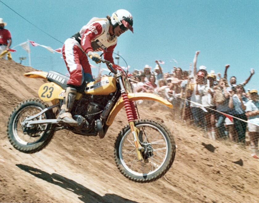 Marty Moates on his way to victory on June 22, 1980.