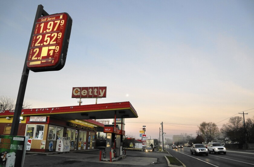 A Newark, Del., service station was charging $1.979 for a gallon of regular gas Friday. The national average was $2.038 Tuesday.