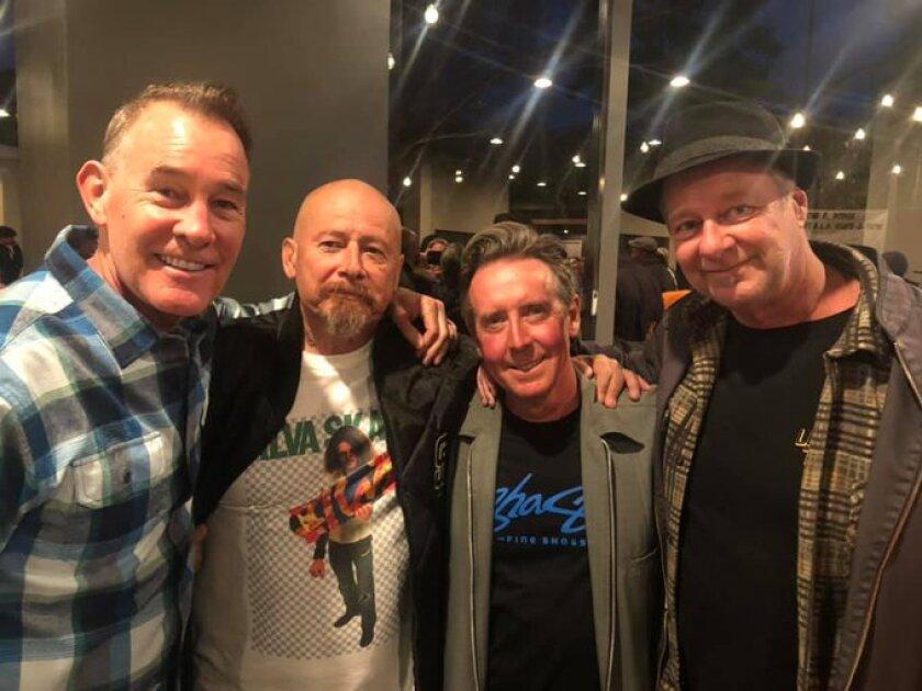 Steve Cathey, Dennis Martinez, Billy Ruff and Dan Colburn
