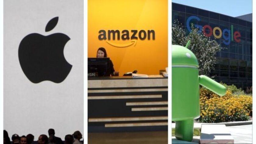 Los tres mayores gigantes tecnológicos —Apple, Amazon y Alphabet— revelarán este jueves sus últimos resultados, que podrían darnos alguna pista sobre quién llegará primero a la meta.