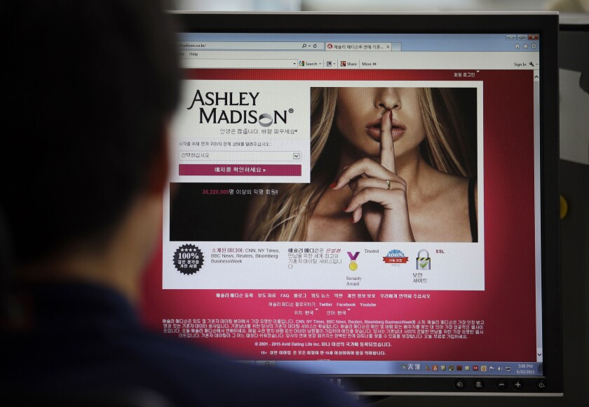 Ashley Madison, a matchmaking website for cheating spouses, said that it was hacked and that the personal information of some of its users was posted online.