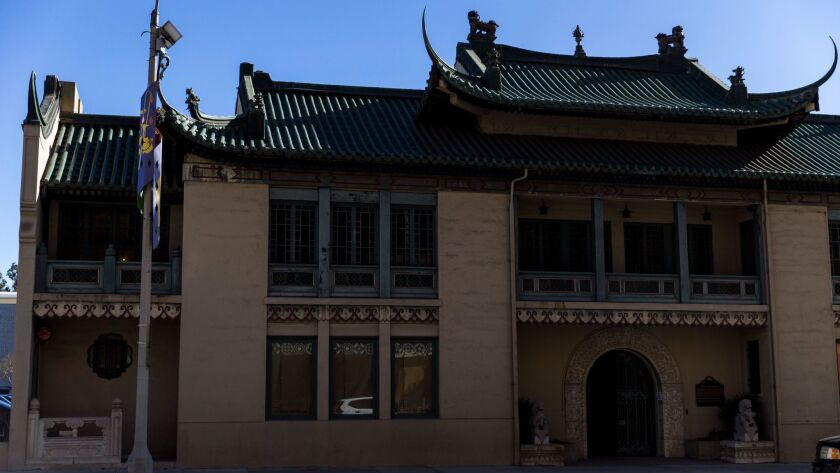 PASADENA, CA - DECEMBER 05: The USC Pacific Aasia Museum, photographed on December 05, 2017 in Pasad