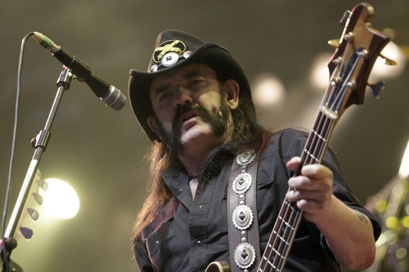 Lemmy Kilmister of Motorhead performing in 2010.