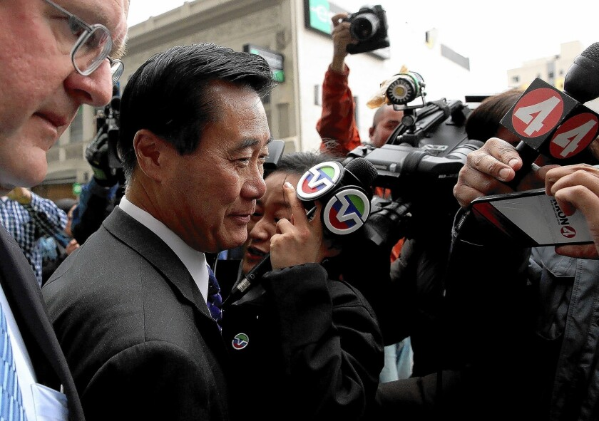 Sen. Leland Yee was originally arrested in March and charged with accepting $62,000 in campaign contributions in return for favors.