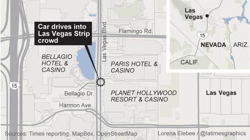 Car drives into Vegas Strip crowd