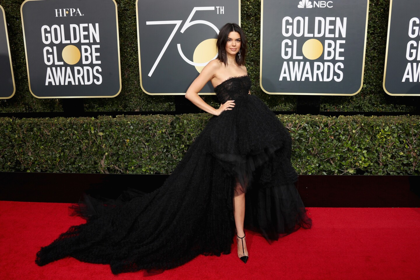 BEVERLY HILLS, CA - JANUARY 07: Kendall Jenner attends The 75th Annual Golden Globe Awards at The Beverly Hilton Hotel on January 7, 2018 in Beverly Hills, California. (Photo by Frederick M. Brown/Getty Images) ** OUTS - ELSENT, FPG, CM - OUTS * NM, PH, VA if sourced by CT, LA or MoD **
