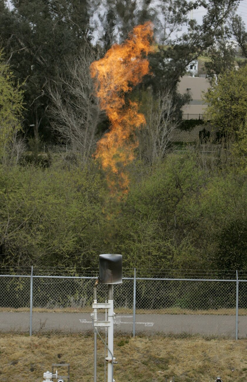 Once the gas is cleaned and put into a pipeline, it will no longer be flared off.