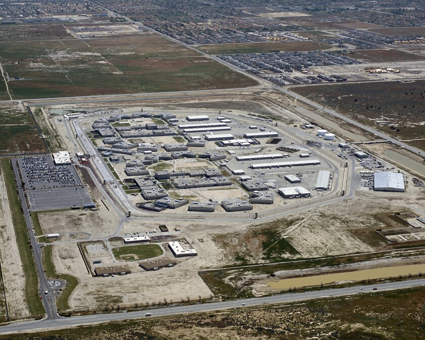 California State Prison in Lancaster remains on partial lockdown after a dining hall riot that state officials say is unrelated to an ongoing hunger strike there and at other prisons.