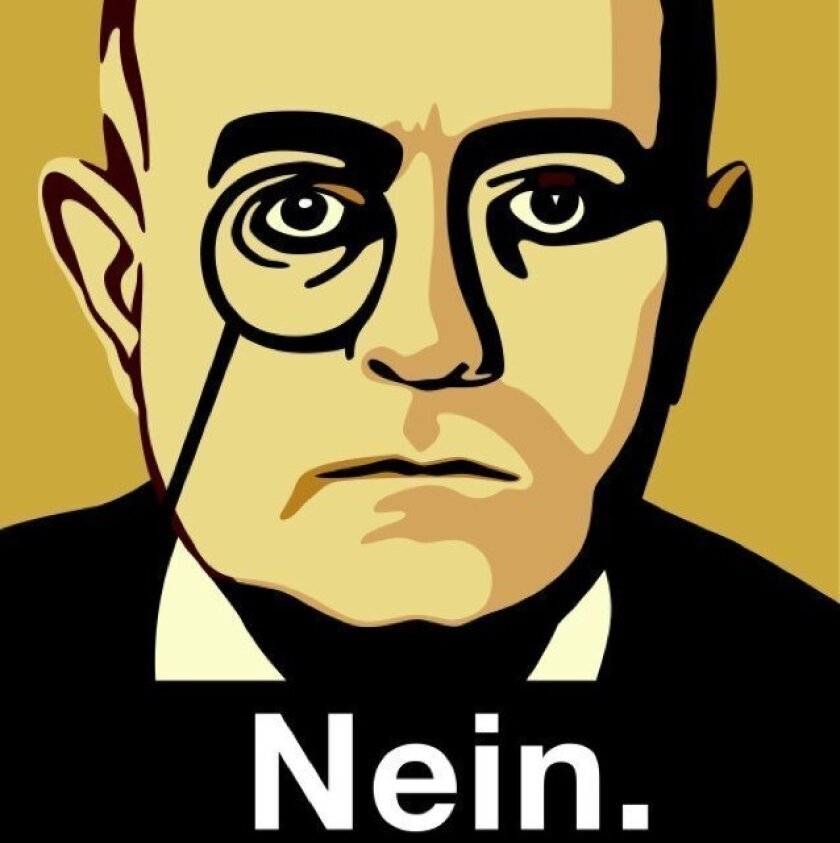 The avatar for the Twitter feed NeinQuarterly is modeled on Theodor Adorno.