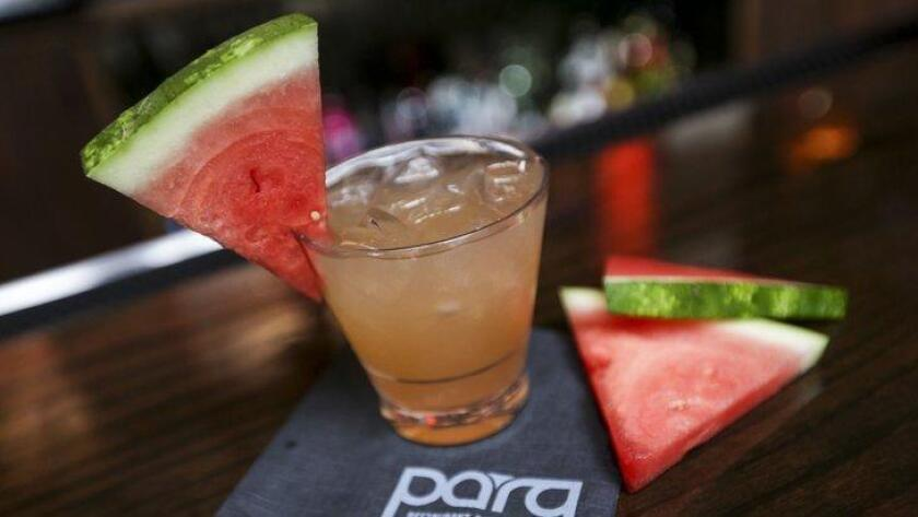 Parq Restaurant & Nightclub's updated cocktail menu includes favorites like the Summer Sandia Cocktail. (/ Julien Jollon/Anthro.is)