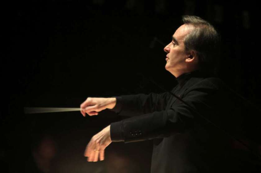 James Conlon conducting at the Dorothy Chandler Pavilion in 2011.