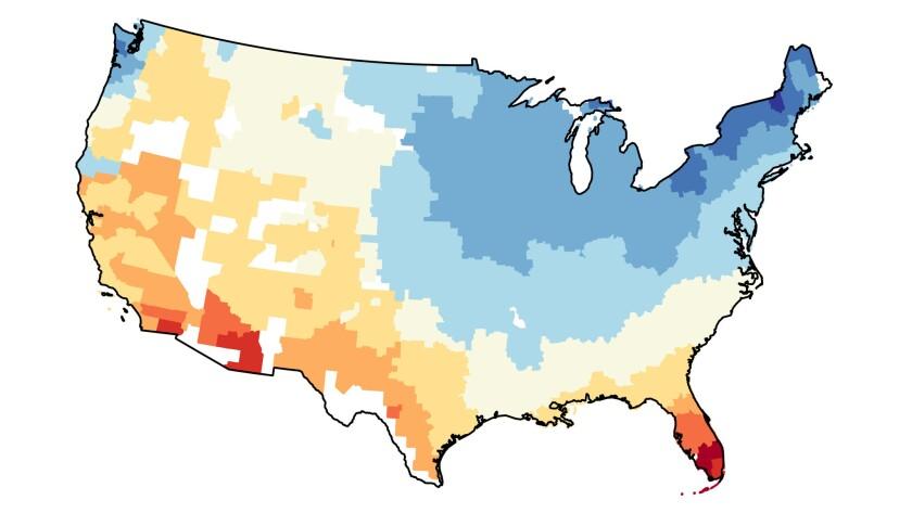 Weather pleasantness map