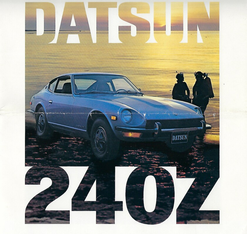 1973 Datsun 240Z brochure cover