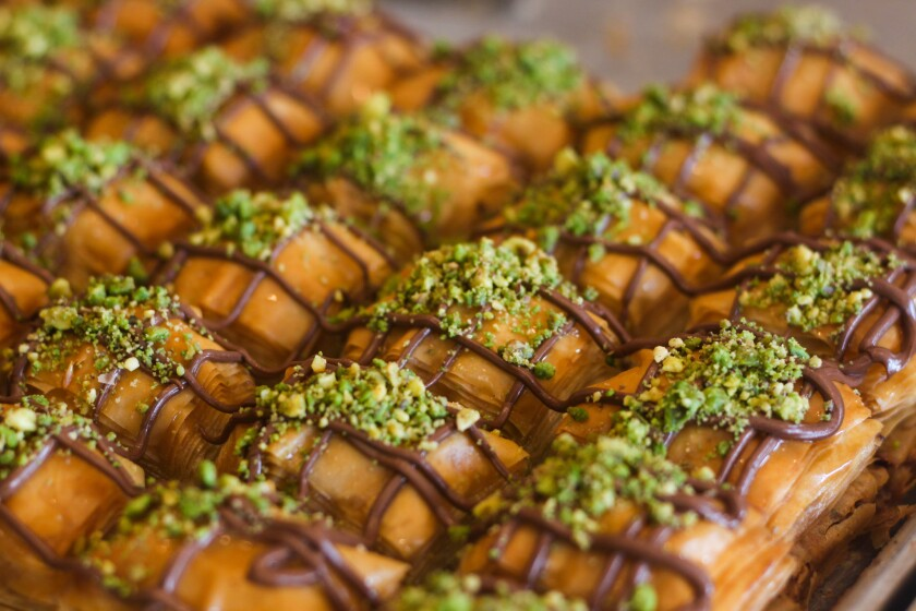 Spring Valley, CA-- In a nod to American tastes, AlHamdani Sweets carries a chocolate baklava option