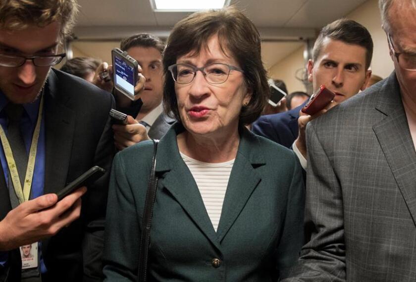 La senadora republicana de Maine Susan Collins (c). EFE/Archivo