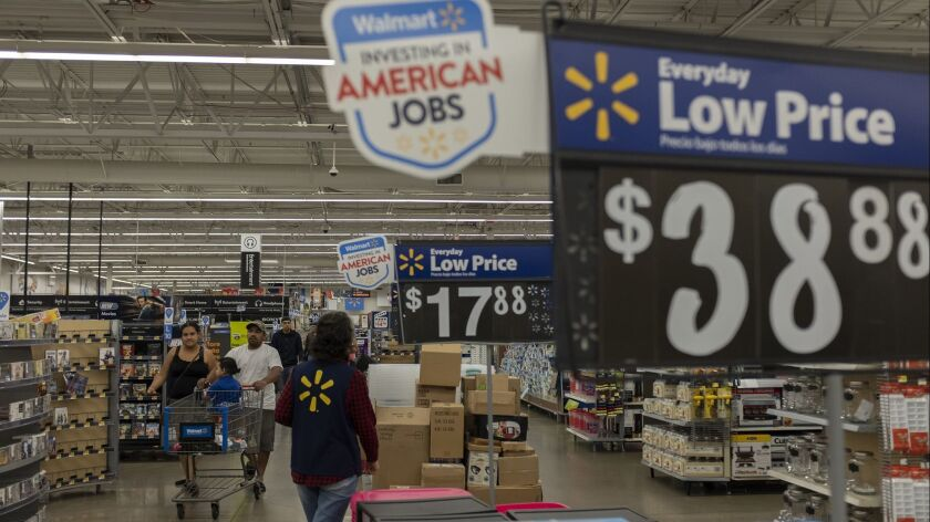 Consumer spending in the second quarter soared to a 4% annual rate. Above, a Walmart store in San Leandro on June 14.
