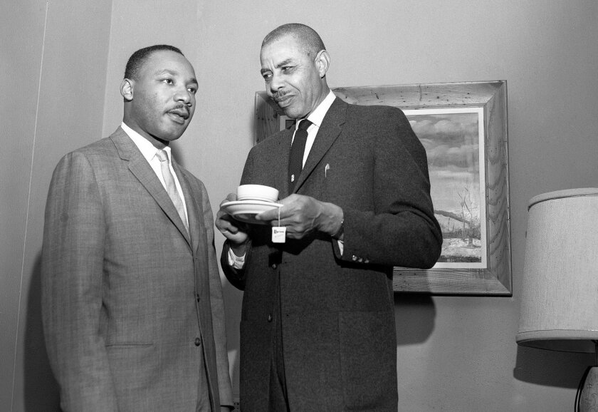 Rev. Martin Luther King, Jr. and  Rev. E. Major Shavers at the El Cortez Hotel on June 15, 1962