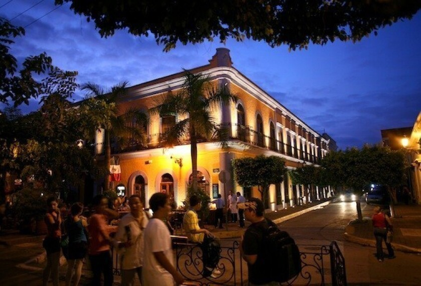 The historic center of Mazatlan, a popular choice for young spring break travelers.