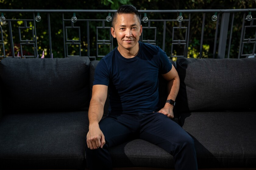 Author Viet Thanh Nguyen at home.