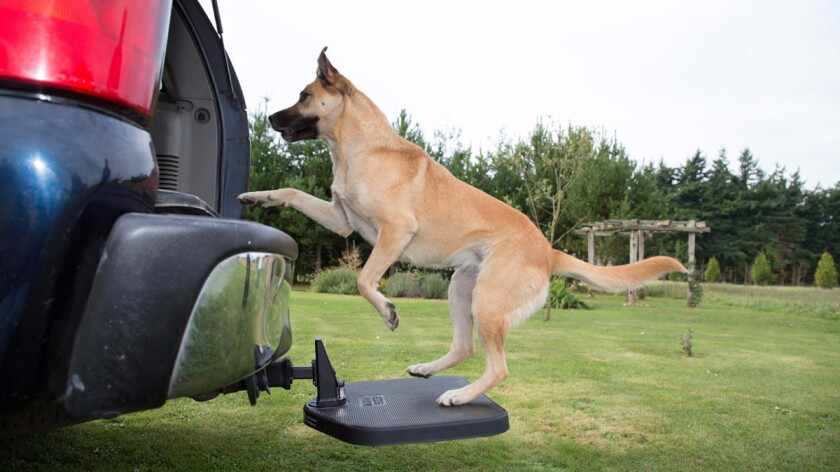 Twistep is a rubber-coated step attached to a short arm that fits into a trailer hitch.