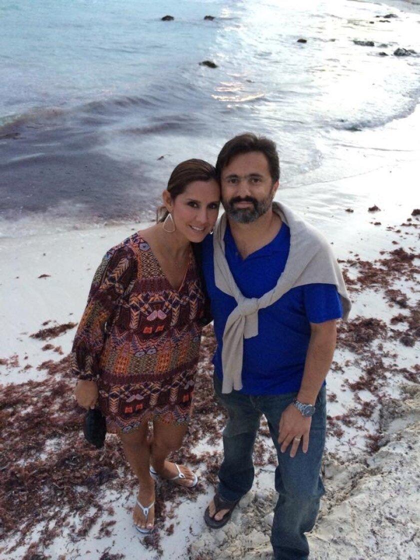 Patty Zamora and Santiago Becerra of Espiritu Santi Luxury Catamaran Tours.