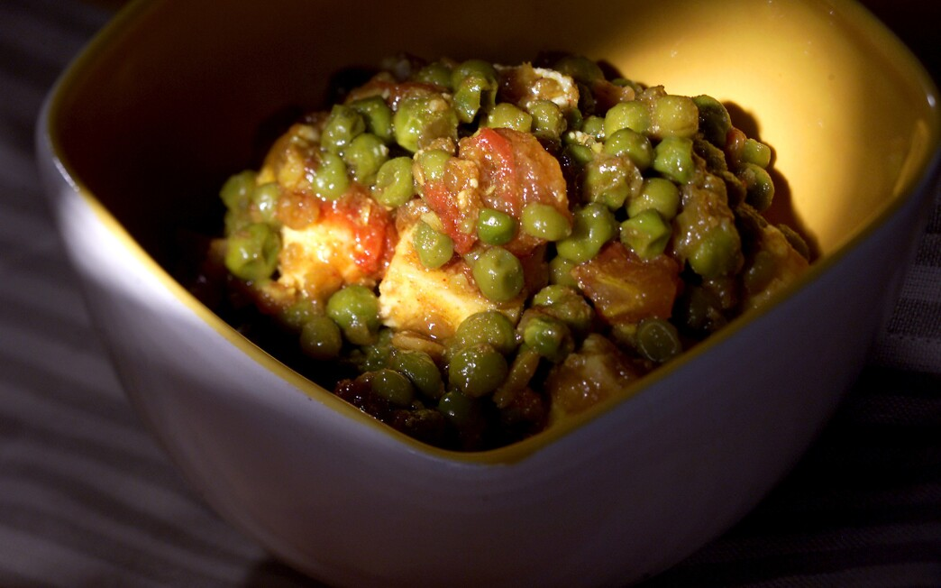 Cheese and Peas (Mattar Paneer)