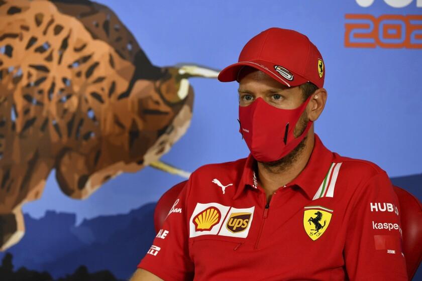 El piloto de Ferrari Sebastian Vettel en conferencia de prensa en Spielberg, Austria