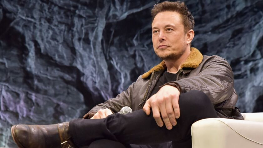 Elon Musk participates in a question-and-answer session in Austin, Texas, on March 11.