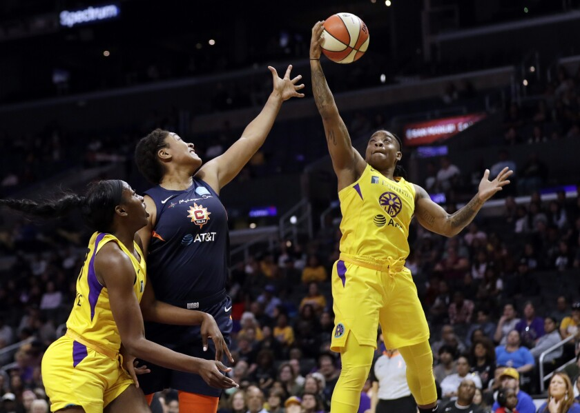 Los Angeles Sparks guard Riquna Williams has been suspended 10 games because of an alleged domestic violence dispute with her former girlfriend.