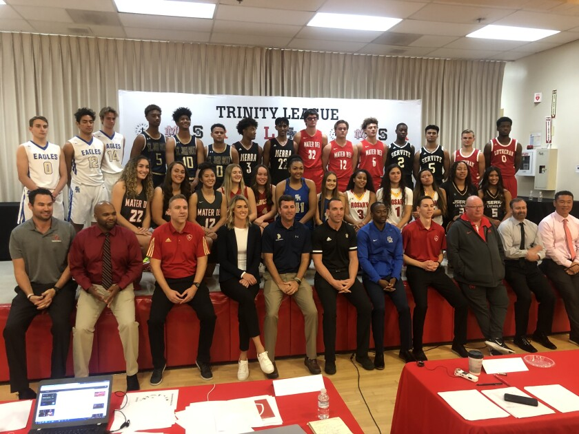 The Trinity League basketball media day was held on Tuesday at Rosary High.