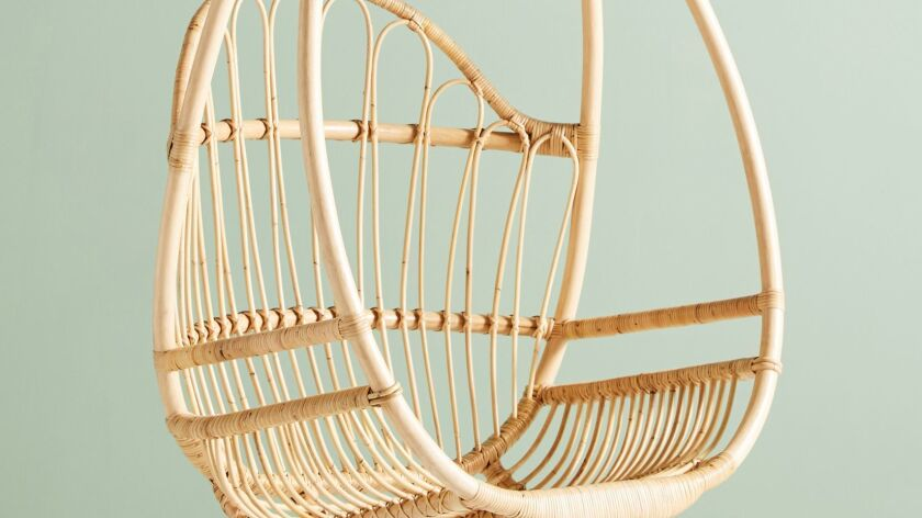 Knotted Melati hanging chair, $598 at Anthropologie. Photography: Anthropologie.
