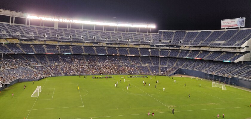New pro soccer team 1904 FC won its home debut 3-1 against the California United Strikers last month at SDCCU Stadium.
