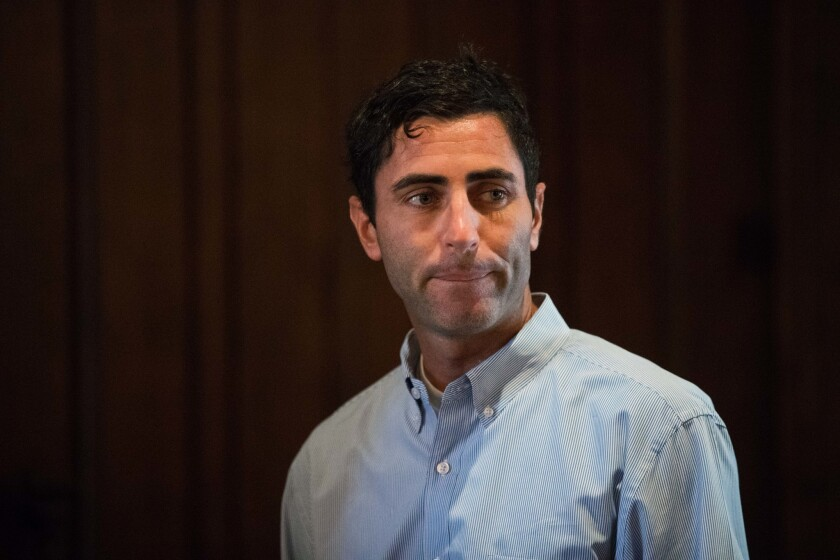 Padres General Manager A.J. Preller during the MLB general managers' meeting at the Omni Scottsdale Resort.